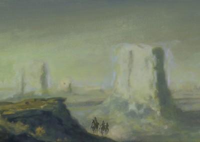 Paysage, 22,8 x 43,2 cm, 2014, VENDU