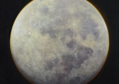 Représentation de la lune, 183 x 137 cm, 2014, VENDU