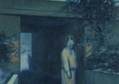 Femme près d'un tunnel, 80 x 61 cm, 2011