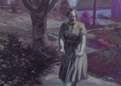 Femme à la tondeuse, 137 x 107 cm, 2011, VENDU