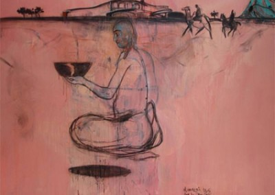 Sans titre (rose), 200 x 250 cm, 2006