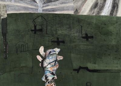 Vrilles et rafales, 150 x 165 cm, 2007