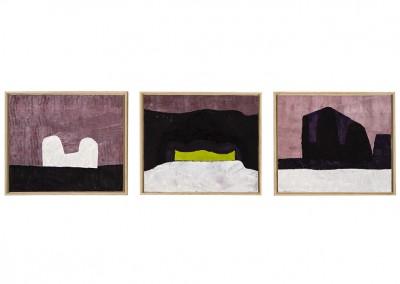 Les horizons (triptyque), 3X(51 x 60.5) cm, 2005-2006