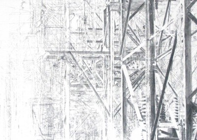 Errance VII, 122 x 214 cm, 2015, VENDU