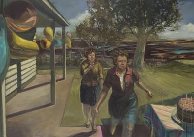 Femmes apeurées, 95,5 x 183 cm, 2011, VENDU