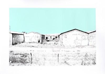 Incursions... En train (scène 2), 56 x 77 cm, 2013, VENDU