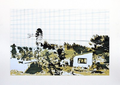 Incursions... En train (scène 3), 56 x 77 cm, 2013, VENDU