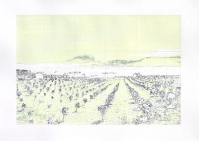 Incursions... En train (scène 4), 56 x 77 cm, 2013, VENDU