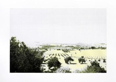 Incursions... En train (scène 6), 56 x 77 cm, 2013, VENDU