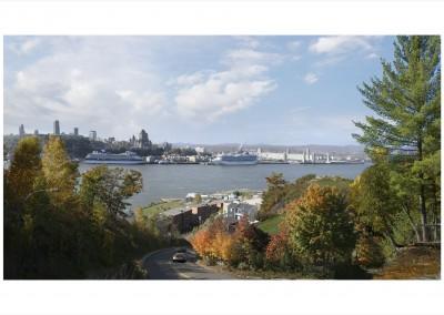 Québec, vu de la pointe Lévis, 91 x 147 cm, 2008