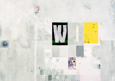 Sans titre 28 (inspiré d'une affiche de David Muehlfeld) , 122 x 107 cm, 2014