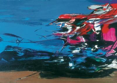 Le lac, 96 x 162 cm, 1981, VENDU