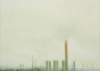 Paysage avec usines, 160 x 107 cm, 2014