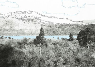 Le chemin de la caldéra (segment lac), 50 x 91 cm, 2011, VENDU