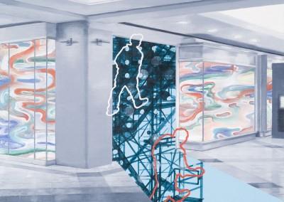 Espace public no.24, 40 x 40 cm, 2009