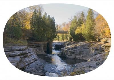 Le pont Déry, 81 x 131 cm, 2008, VENDU
