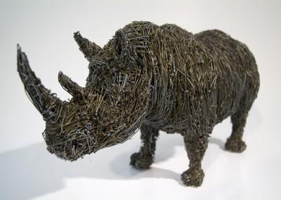 Rhinocéros noir, 16 x 34 x 12 cm, 2009, VENDU
