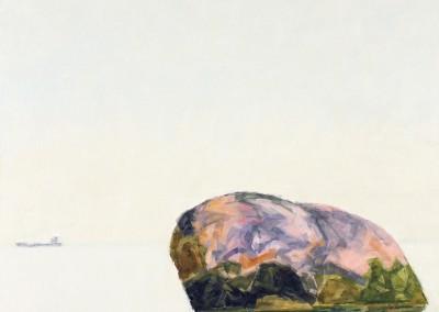 Rocher – été, 46.5 x 46.5 cm, 2016