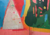 Manchot papou et son tas de cailloux, 76.2 x 91.4 cm, 2017, SOLD