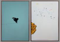 Sans titre 33, Diptyque, 2 x (50.8 x 76.2), 2015, VENDU