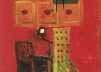 Salon rouge, 46 x 38 cm, 2000