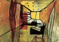 Interior mixto, 81 x 65 cm, 2000