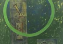 Orbita verde y 4 datos, 165 x 130 cm, 1992