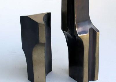 Parvis et portail No. 26, 24.5 x 12 x 8 cm & 18 x 13 x 8 cm, 1988