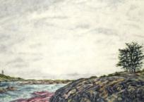 Paysage nordique IV, 60.5 x 91 cm, 2019