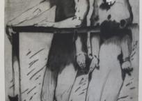 Le rambarde, 120 x 80 cm, 1988