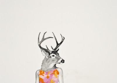 Femme-cerf, 46 x 30.5 cm, 2012