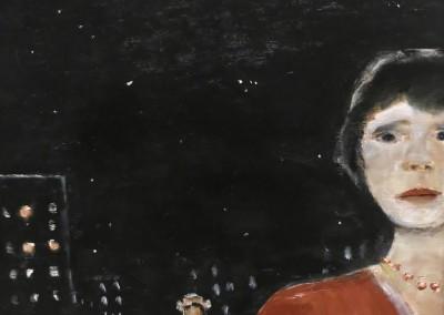 Personnage dans la nuit, 62 x 51 cm, 1978, SOLD