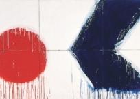 Sans titre (Série bleu blanc rouge) , 152.4 x 274.25 cm, 1974, VENDU