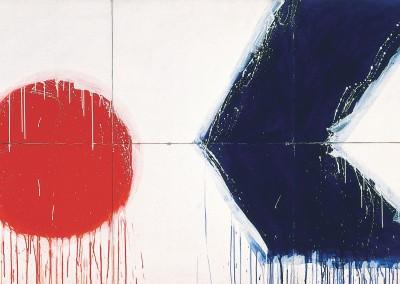 Sans titre (Série bleu blanc rouge) , 152.4 x 274.25 cm, 1974, SOLD