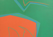 Vibrations sur fond vert, 74 x 60 cm, 1962, SOLD