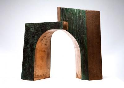 Parvis et portail No. 10, 21.5 x 12.5 x 30.5 cm & 20 x 13 x 37 cm, 1986