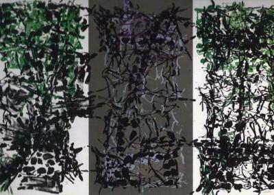 Triptyque gris, 76 x 119 cm, 1967