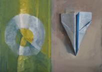 Carte et boussole, 31 x 41 cm, 2013, VENDU