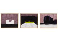 Les horizons (triptyque), 3 x (51 x 60.5 cm), 2005-2006
