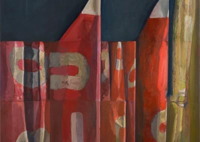 Le silence est d'or et la terre est rouge, 92 x 102 cm, 2013