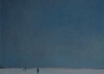 Nuit de Noël, 58.4 x 40.6 cm, 1963, VENDU