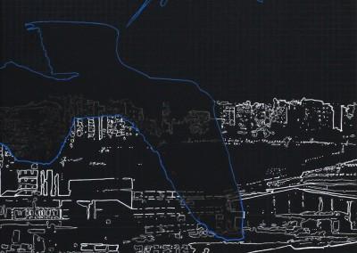 Prospections… (scène 3), 30.5 x 30.5 cm, 2012
