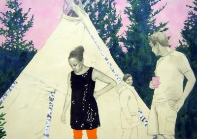 Triangle imprévu, 91 x 121 cm, 2012
