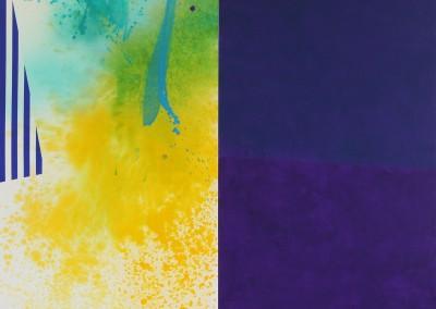 Strates jaune-violet, 170 x 170 cm, 2013
