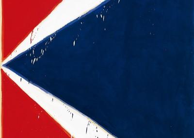 Série Bleu Blanc Rouge « K », 212 x 168 cm, 1976, SOLD