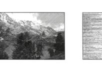 Suivant l'idée d'une montagne ; fabulation II, 43 x 76 cm, 2016