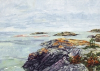 Paysage nordique I-Ragueneau, 23 x 96 cm, 2018