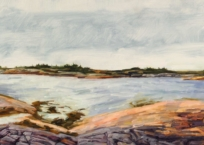 Paysage nordique III-Baie-Johan-Beetz - Panorama, 23 x 115.5 cm, 2018, SOLD