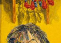 Sarah et souris, 51.7 x 17.2 cm, 2020