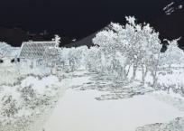 Agung; géographie des cendres II, 50 x 91 cm, 2011